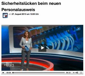 Sicherheitslücken beim neuen Personalausweis, BR Blog, Report München