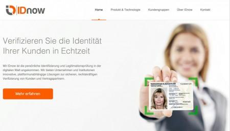 IDnow Homepage