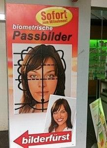 Passfoto zum Mitnehmen, Werbung Bilderfürst